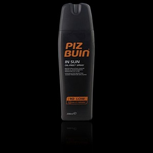 Imagen de PIZ BUIN IN SUN spray SPF10 low 200 ml